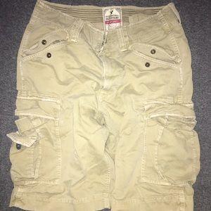 American Eagle Tan Cargo shorts. Men's 33 waist